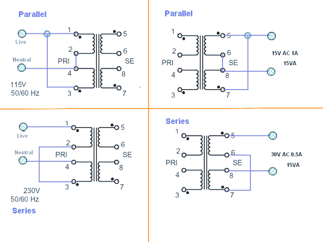 Series and Parallel Transformers