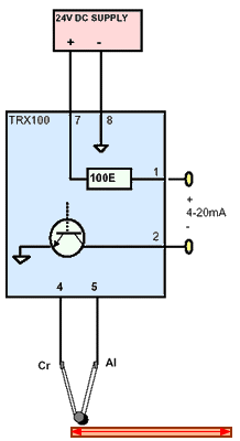 RTD Pt100 Three Wire Transmitter Connections