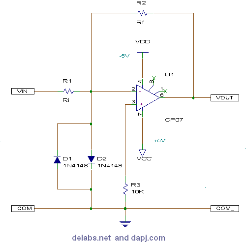 Inverting Amplifier - Op-Amp Circuits