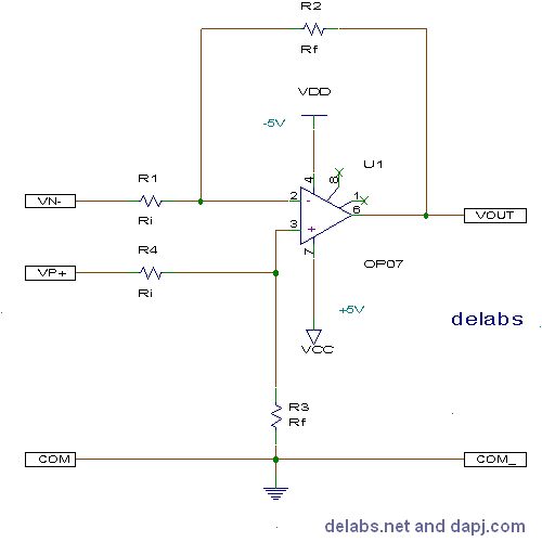 Differential Amplifier - Op-Amp Circuits