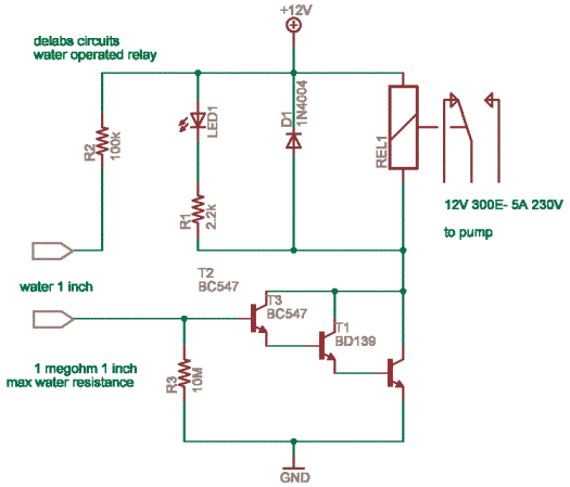 Simple Water operated relay