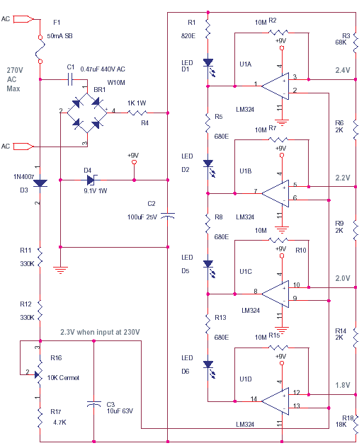 Schematics Of Delabs Resistance Measurement Analog Led Meter