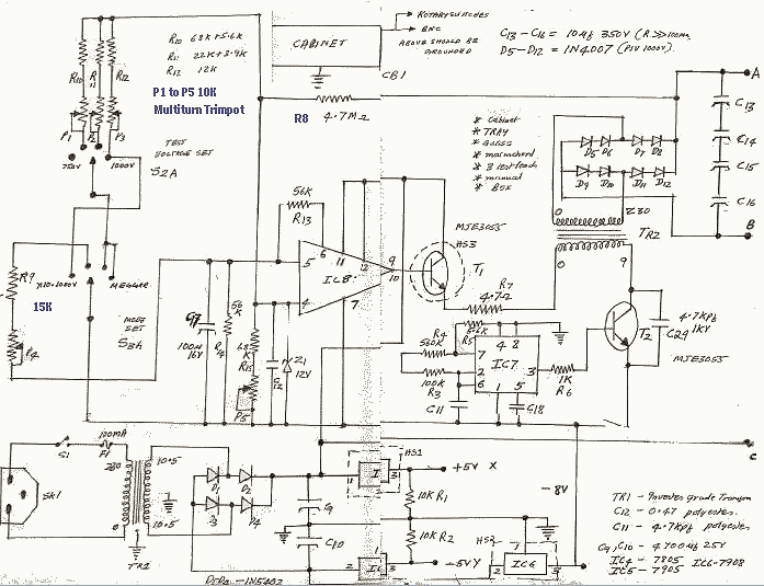 schematics of delabs insulation tester power supply rh schematics dapj com