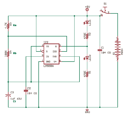 Astable Multivibrator with 555 Timer