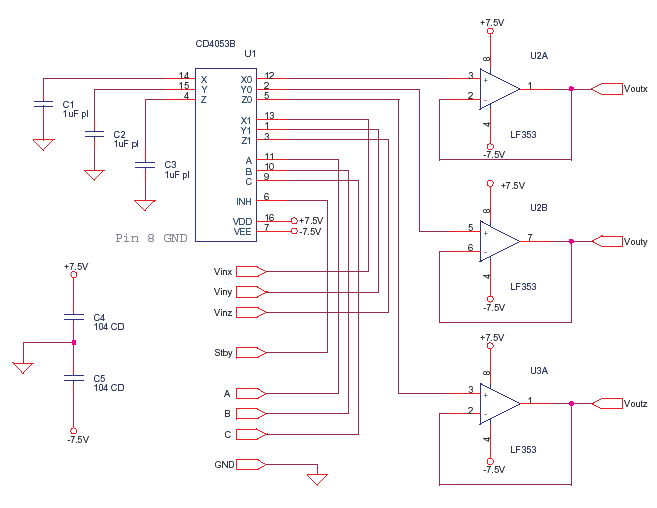 Sample and Hold with Standby CD4053