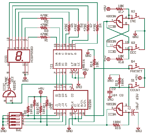 Simple Digital Event Counter - delabs Schematics - Electronic Circuit