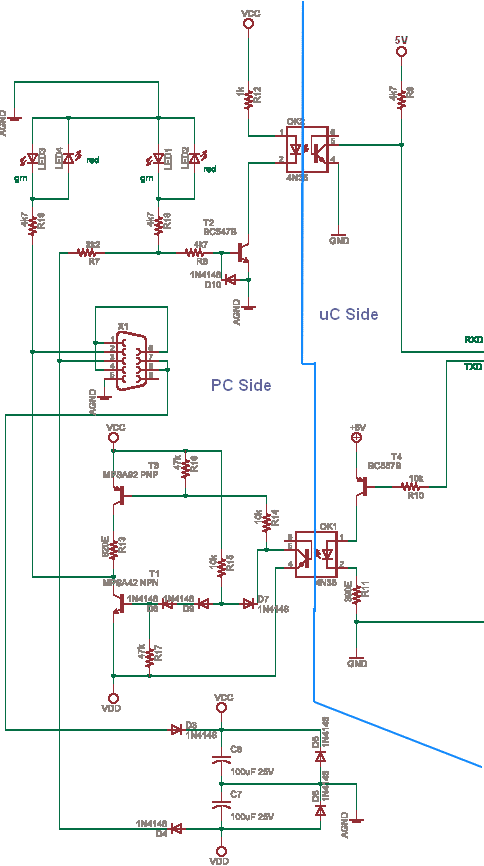 Rs232 With Opto Isolation Delabs Schematics Electronic