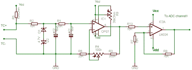 schematics of delabs simple thermocouple amplifier rh schematics dapj com
