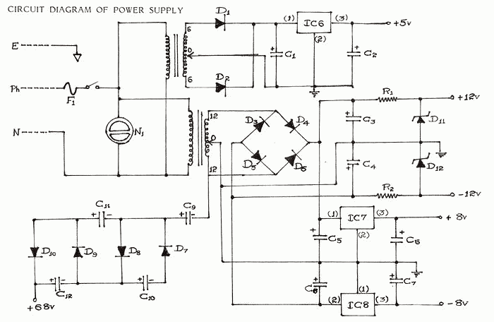 multi output instrument power supply - delabs schematics