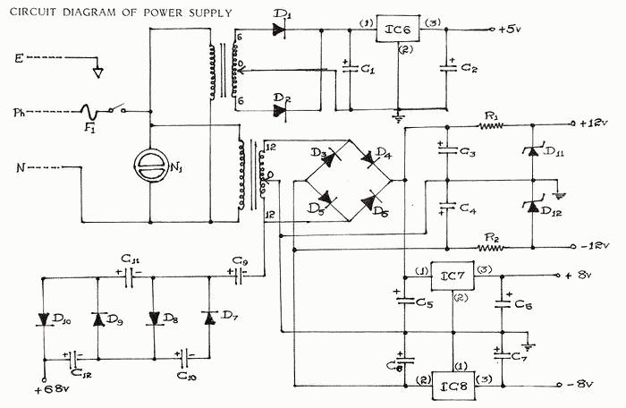 schematics of delabs multi output instrument power supply rh schematics dapj com