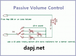 Passive volume control with Potentiometer