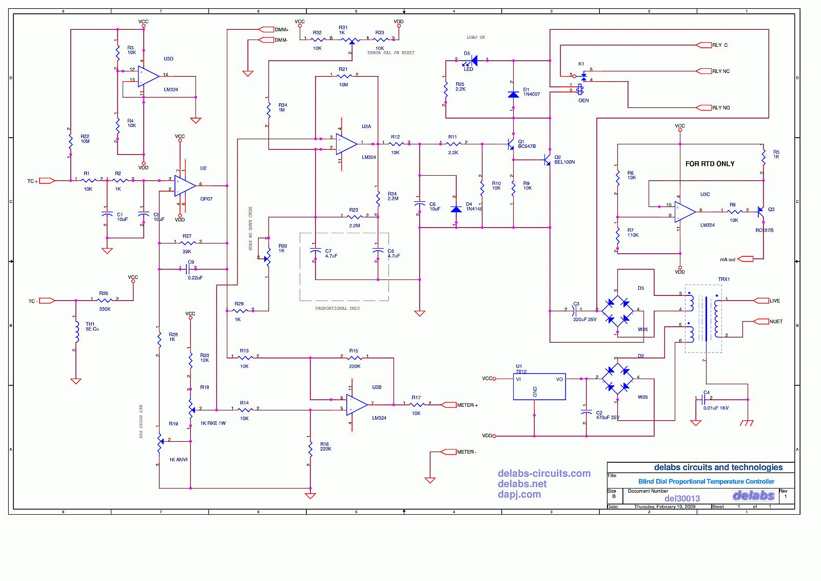 temperature controller page 2 delabs schematics electronic Digital Temperature Controller Circuit Diagram blind temperature controller digital temperature controller circuit diagram