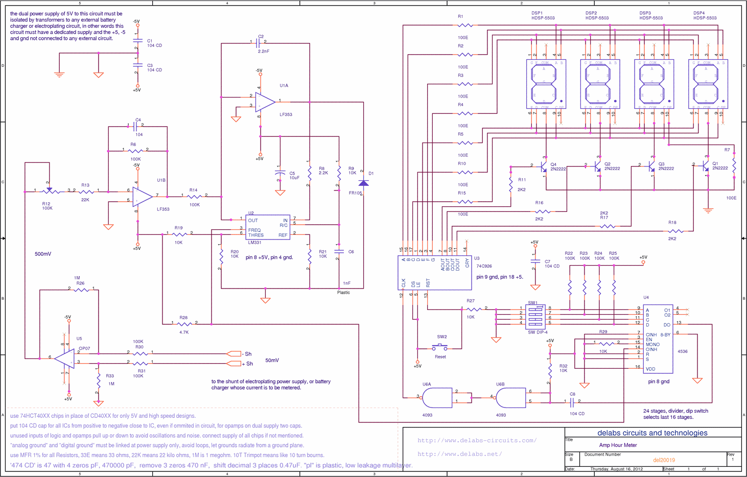 Circuits Delabs Technologies Part 3 The Lm3914 Is A Monolithic Integrated Circuit That Senses Analog Digital Timers