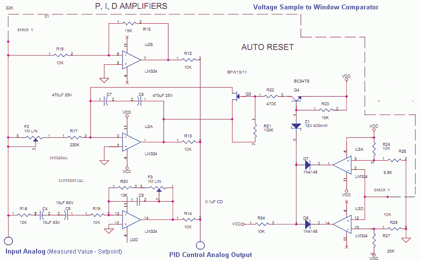 Analog PID control using OpAmps - delabs Schematics - Electronic Circuit