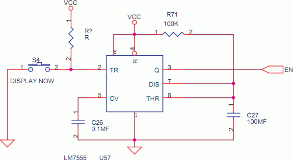 Display On Timer with 555