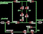 Telephone status indicator with LED